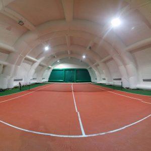 illuminazione a led campo da tennis con copertura gonfiabile