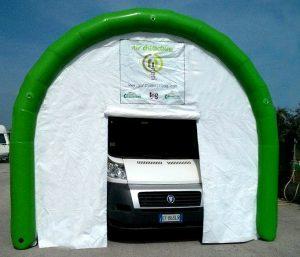 garage gonfiabile per camper vetture barche